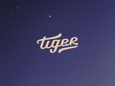 Tiger branding logo rawr brush fibre pen pens animal collective curves vector vectors based on sketch logotype type typography tiger roar