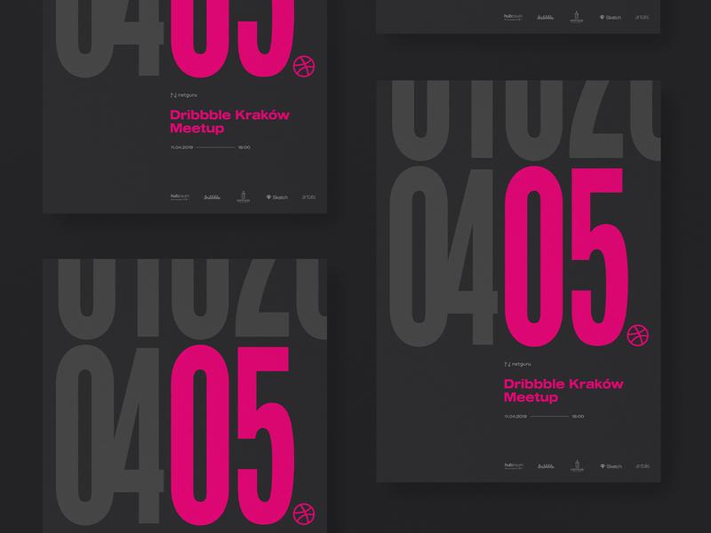 05 Dribbble Kraków Meetup - Posters condensed ultra design typography kraków poster branding meetup dribbble