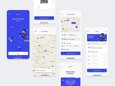 zeb.applied - Taxi App illustration mobile app taxi ux ui