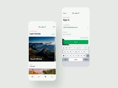 Travel Quest App - 02 - Sign in & Explore