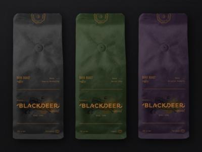 BLACKDEER - Branding - Coffee Packaging