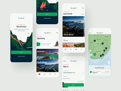 Travel Quest App - 03 - Case Study travel icon product design illustration ux ui branding logo