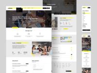 Unibase - Website Layout