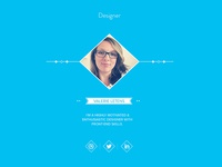 "WIP ""Meet Our Team"" page flat design team agency barnyard icons social light blue one page site"