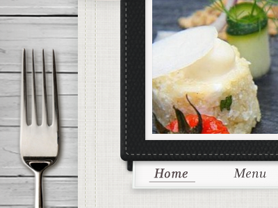 restaurant  restaurant web design texture leather food menu wood