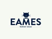 Eames Catwear Logo blue cat logo
