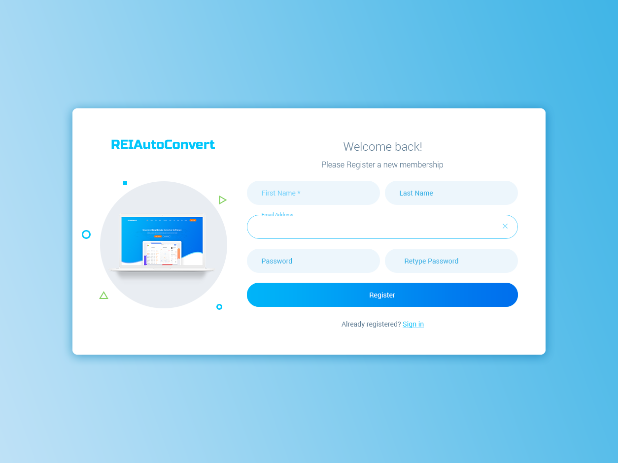 Relautoconvert/SignUp ux ui user interface signup uxdesign uidesign