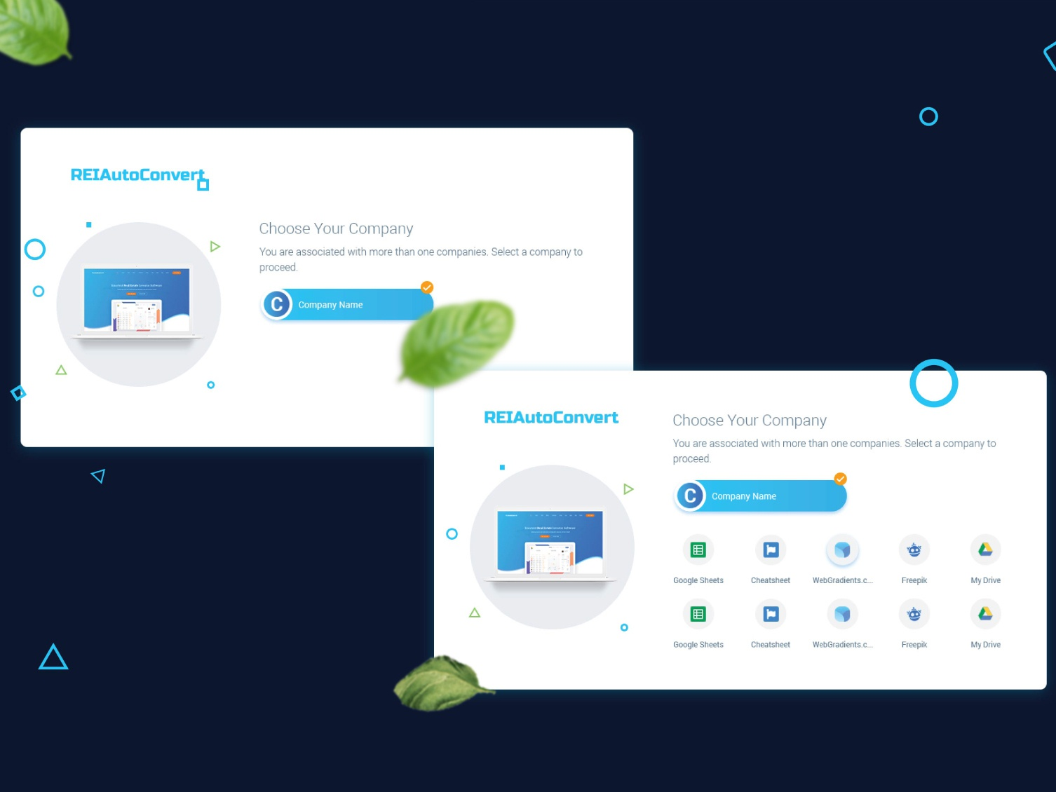 Relautoconvert/Choose Your Company dashboad webdesign website design interface dashboard ui ux ui uxdesign admin dashboard uidesign