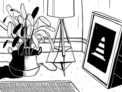 Tenement 01 procreate app sketch shadow light line drawing lineart art draw black and white procreate ipadpro illustration design
