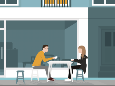 Drinking coffee in Paris