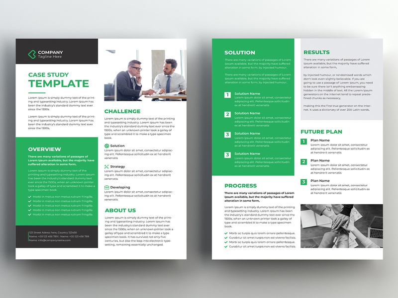 Case Study Template portfolio newsletter multipurpose marketing informational flyer editorial creative corporate clean catalog case study case history business brochure brief booklet agency