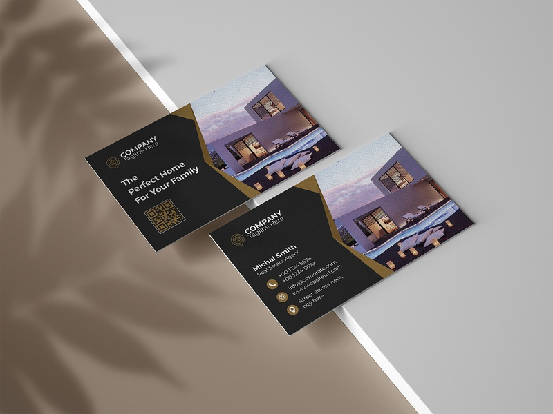 Real Estate Business Card realestate realtor real estate property professional open mortgage interior design house home construction company business card agent agency