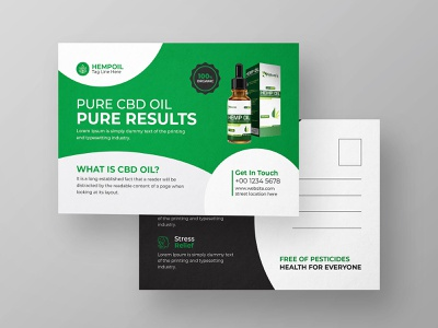 Hemp or Cbd Product Postcard Template product plant nature narcotic medicine medical cannabis marijuana convention marijuana cbd postcard cannabis shop cannabis leaf cannabis grower cannabis postcard hemp postcard post card postcard hemp