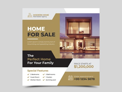 Real estate social media design template social media real estate property promotion media marketing interior instagram house home facebook estate elegant development design company commercial banner agency advertising