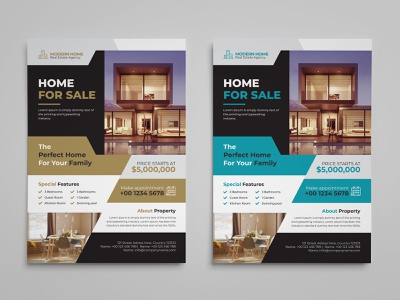 Real Estate Flyer real estate flyer real estate property professional poster open newspaper mortgage marketing leaflet house home flyer commercial agent agency advertising advertisement