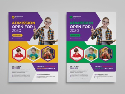 Kids Admission Flyer Template school flyer kids admission flyer preschool poster open leaflet kids party kids flyer junior group flyer enrolment education flyer college children camp art class advertisement admission activities