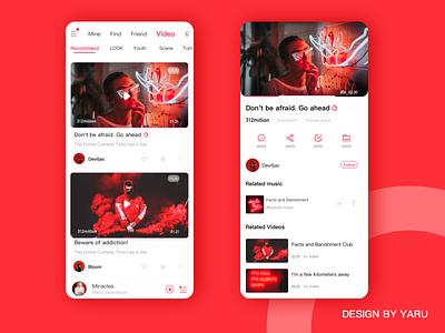 Music Application Design ui ux app mobile ui music app illustration design