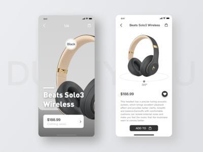 Design of Display Interface for Beats Headphones