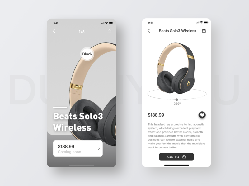 Design of Display Interface for Beats Headphones by YARU_D