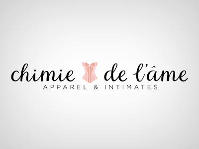 Chimie De Lame logo corset lingerie text logo simple identity logo