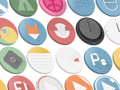 Origami | Flat Icons mobile long shadow icon app dribbble flat design longshadow colorfull