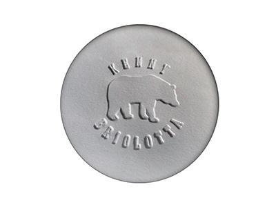 Kenny Briolotta Logo bear logo embossed