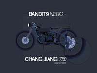 Bandit9 Nero Flat Illustration
