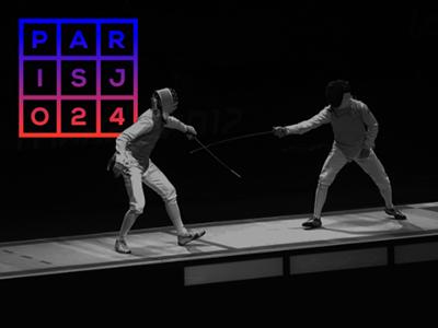Olympic Games PARIS 2024 (Identity Concept) jo france logo sport 2024 paris games olympic escrime identity black grid