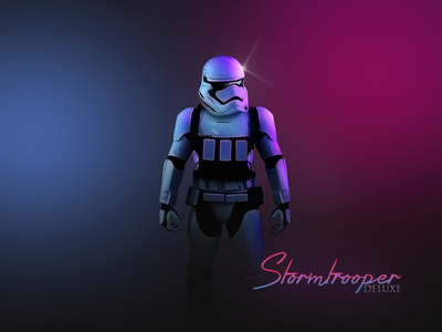 """Stormtrooper Deluxe - """"Midnight"""" Star Wars series 80s 80 neon blue pink awakens force the wars star vice midnight"""