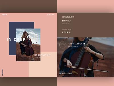 Music landing page fashion adobexd web illustrator ui ux website design