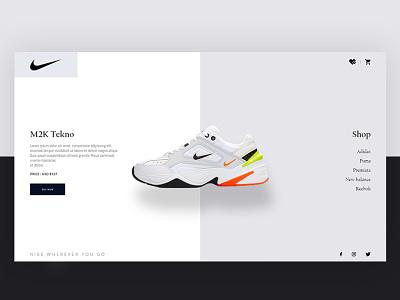 Nike Product Concept -  Page loading nike air nike fashion adobexd web website design ux ui