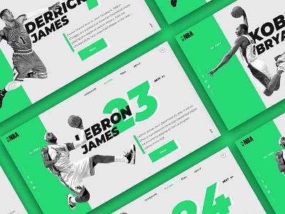 NBA-PLAYERS Concept branding reebok adidas nike sport website web ux ui nba adobexd