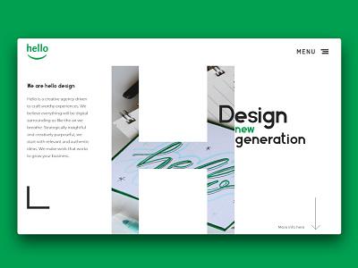 Hello design webdeveloper agency branding design web website ux ui adobexd