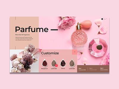 Parfum Luxury branding luxury web design illustrator parfum website ui ux adobexd