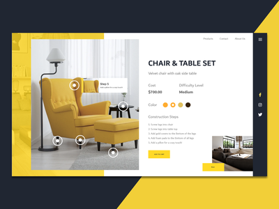 Design forniture - Product logo website brand steps colors chair table design uiux ui forniture