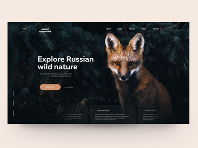 Russian wild nature design dribbleshot adope photoshop