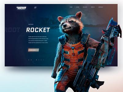 Marvel The Rocket web dribbleshot design adope photoshop marvel comics marvel