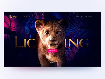 Disney The Lion King concept – SIMBA simba concept rafiki lionking disney after effect landingpage ux ui photoshop web dribbleshot design adope photoshop