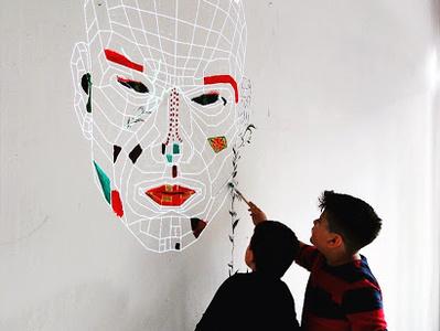 """Collective Canvas"" Interactive Installation projection mapping projection 2d animation art installation imrsv arts interactive art"