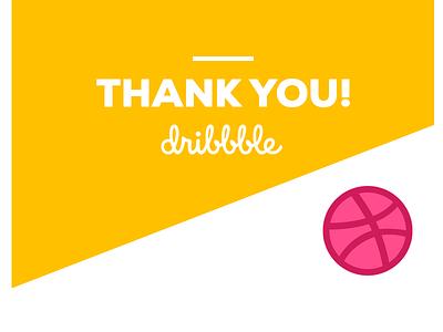 Thank you dribbble! dribbble