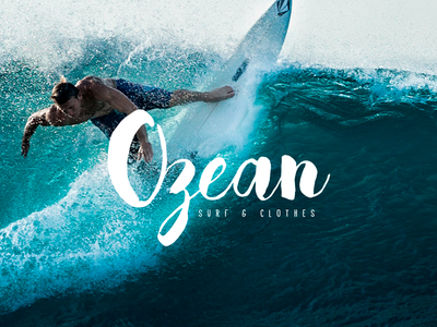Ozean tabla surf logotipo ocean sea sports surfing branding logo surf
