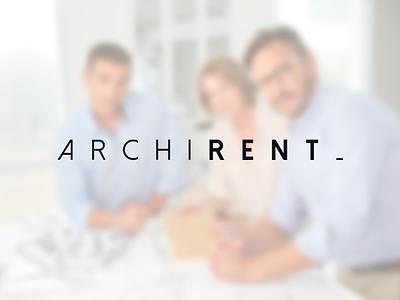 Archirent building branding logo minimalism architect architecture