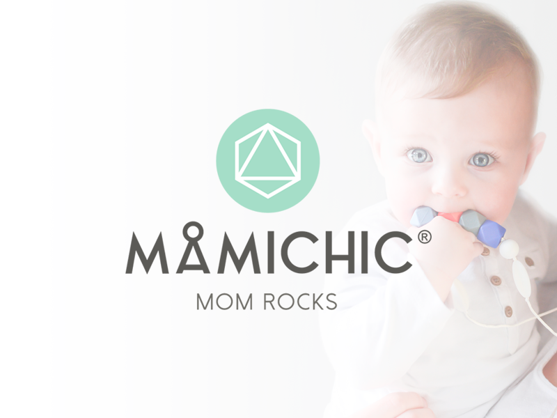 Rebranding MamiChic collar lactation necklaces-biters mother mom baby