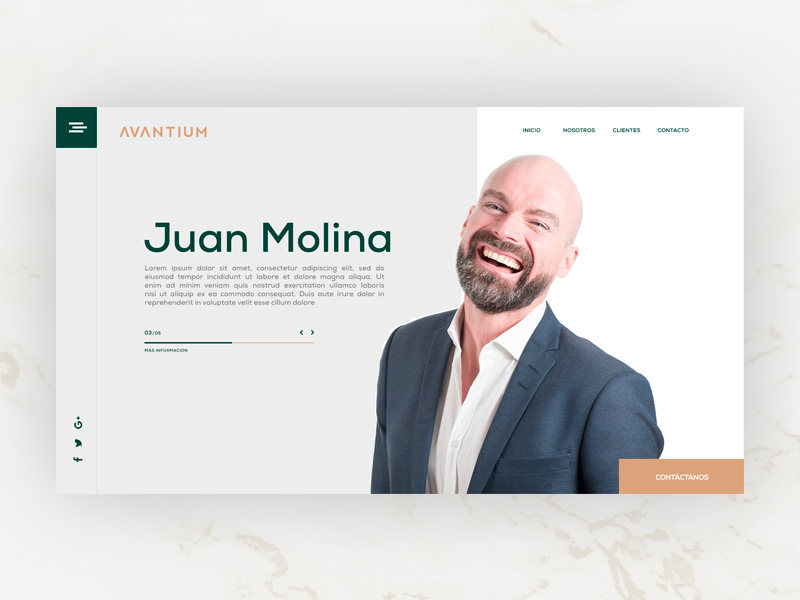 Avantium Investors interface businessman investors green uidesign ui webdesign website