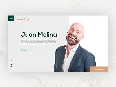 Avantium Investors interface businessman investors green uidesign ui webdesign website