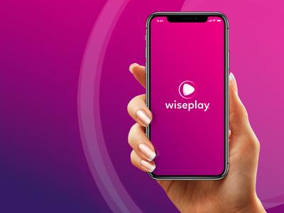 Wiseplay App player play videos branding re-branding logotipo logo re-brand rebranding gradient app
