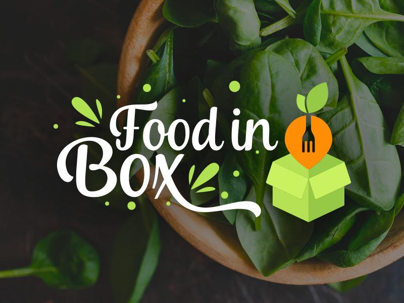 FoodInBox health illustration logotipo identity designer symbol symbol designer delivery food food logo logotype typography identity brand mark branding
