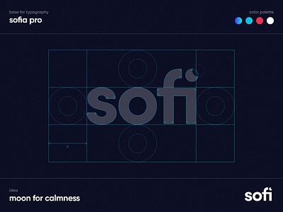 Sofi - Logo mental health health medicine logotype plants calmness dark typography font sofia pro minimal figma logo design logo