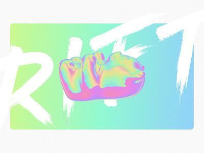Rift - Gummy Bear rift collector ethereum ether crypto currency nft artist nft fluorescent holographic neon c4d cinema 4d 3d figma ui