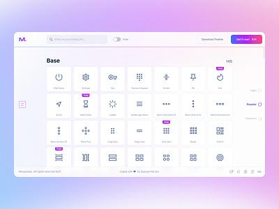 iMaterial Pro Website website light imaterial pro ui8 minimalistic blur ui glass ui glassmorphism glass google material design icon icons figma
